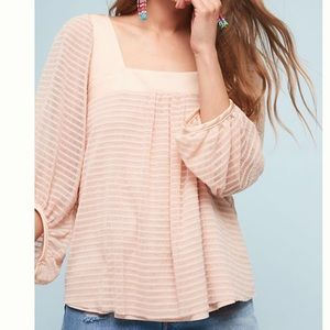 Anthropologie Textured Top Peach S